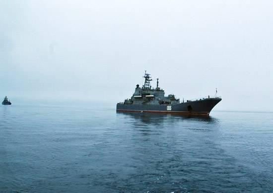 Eine Abteilung der Schiffe der Pazifikflotte ging nach Matua