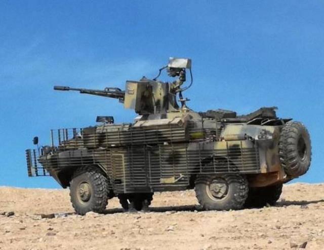 Na Síria, o BRDM é visto com uma arma de controle remoto