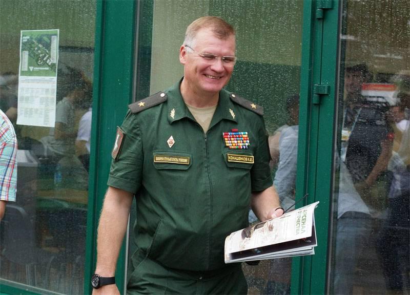 """General Konashenkov - Berlin'e: """"Tavandan eğitim çalışmaları sırasında tavandan 100'te bir sayı aldınız mı?"""""""