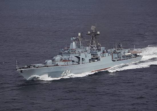 """""""Vice-almirante Kulakov"""" realiza tarefas de treinamento de combate no Mar Vermelho"""