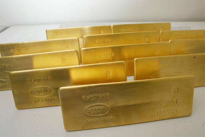 러시아는 반년 동안 금을 사들였습니다.