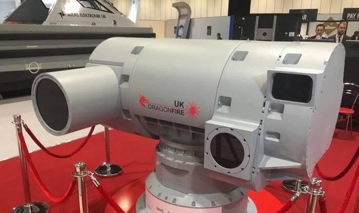 Os ingleses apresentaram um protótipo de laser de combate