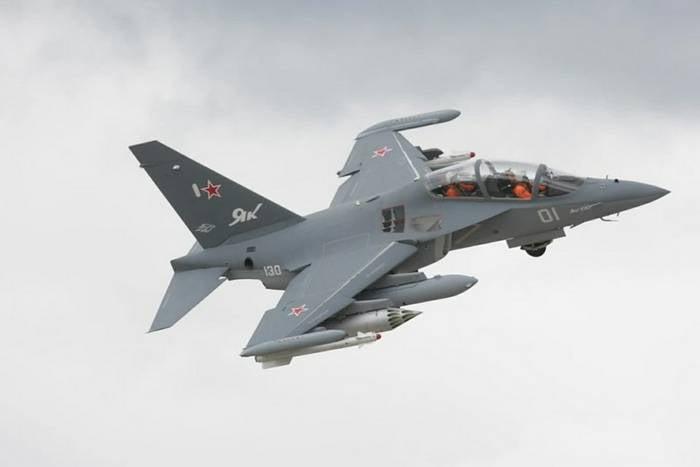 Sob Borisoglebsk, o treinamento de combate Yak-130 caiu