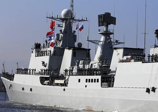 Em Vladivostok chegou aos ensinamentos dos navios da marinha chinesa