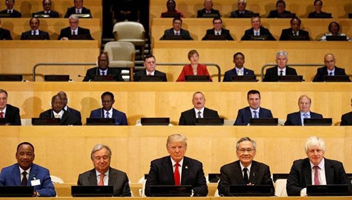 Declaração de Reforma da ONU de Trump assinada por países da 128