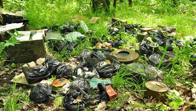 Na LPR descobriu um cache com armas e munições do DRG ucraniano