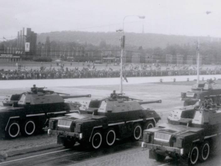 Instalação de artilharia autopropulsada ShKH vz. 77 DANA (Checoslováquia)