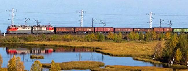 Lançou um movimento regular de trens de carga em uma filial ignorando a Ucrânia