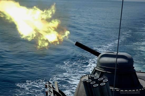 Grupo de barcos de SF destruye misiles de destino de crucero 6