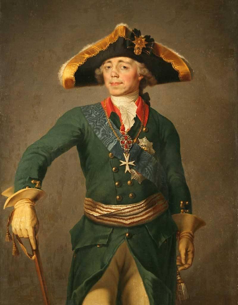 Pablo I, Napoleón y la piel de un oso no sacrificado.