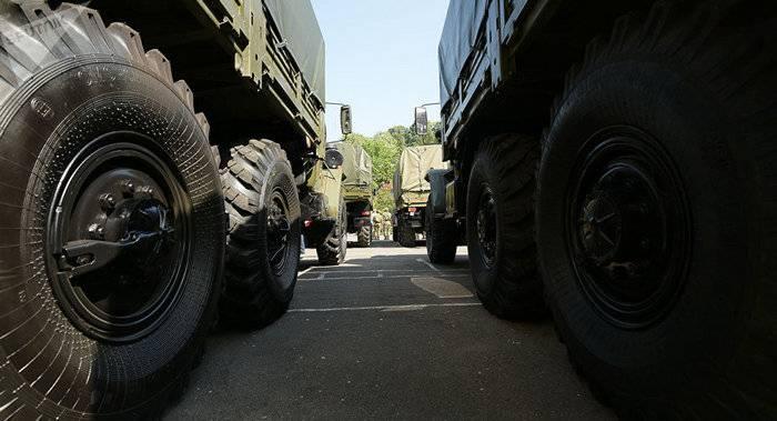 Rússia entregou à Abkhazia uma remessa de propriedade militar