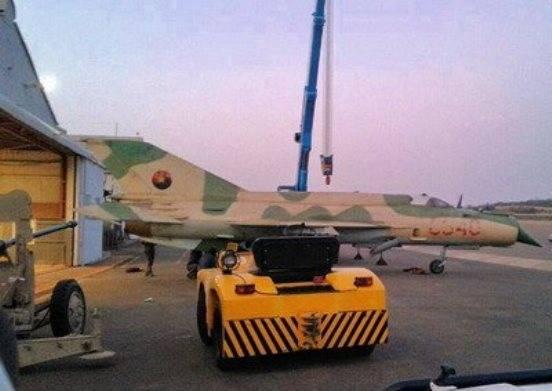 Sudáfrica regresa a Angola previamente capturado MiG-21