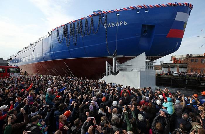 """O primeiro do quebra-gelo atômico da série """"Sibéria"""" lançado em São Petersburgo"""