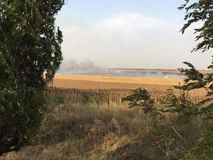 Na região de Donetsk, um depósito de munição pegou fogo