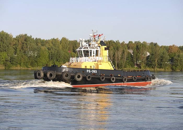 タグボート「RB-393」プロジェクト90600の州テストの海洋部分を完了