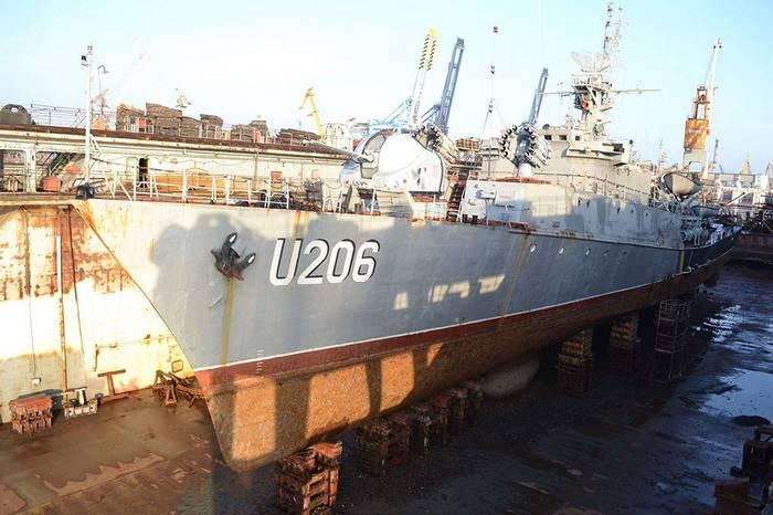 """乌克兰护卫舰""""Vinnitsa""""进行修理"""