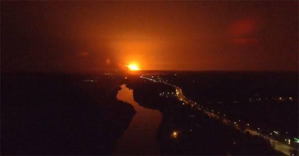 Пожар и взрывы на военном складе в Винницкой области (Украина)