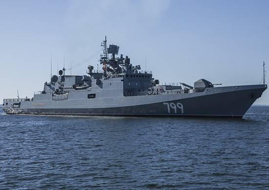 """Se completa el programa de pruebas estatales de la fragata """"Almirante Makarov""""."""