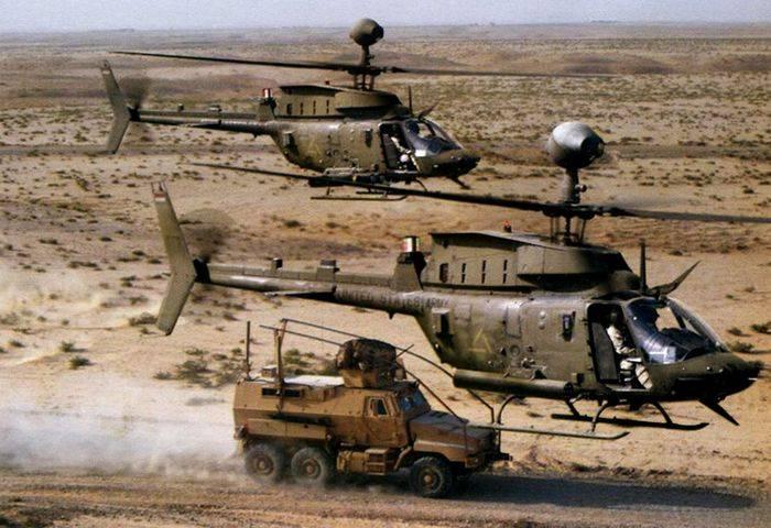 L'armée américaine a radié des hélicoptères de reconnaissance vieux de six ans OH-30D Kiowa Warrior