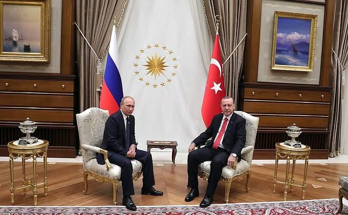 Владимир Путин в Анкаре обсудил с Эрдоганом вопросы урегулирования сирийского конфликта