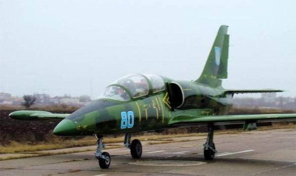在乌克兰,坠毁的军用飞机