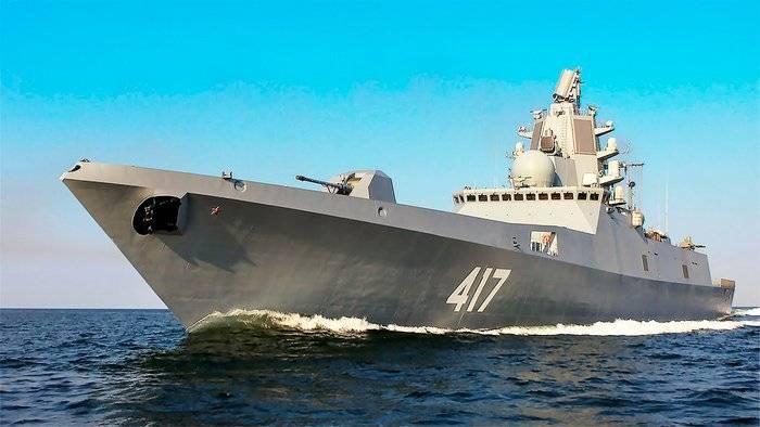 """La fragata """"Almirante Gorshkov"""" pasa la etapa final de prueba"""