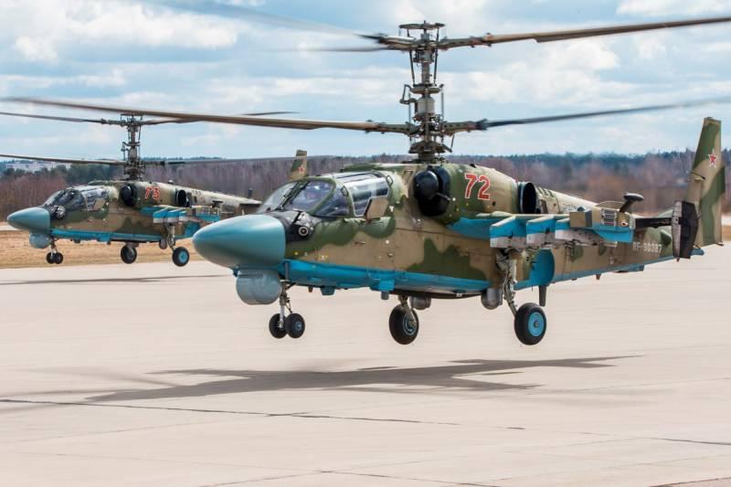 Готова к передаче военным первая в этом году партия вертолетов Ка-52