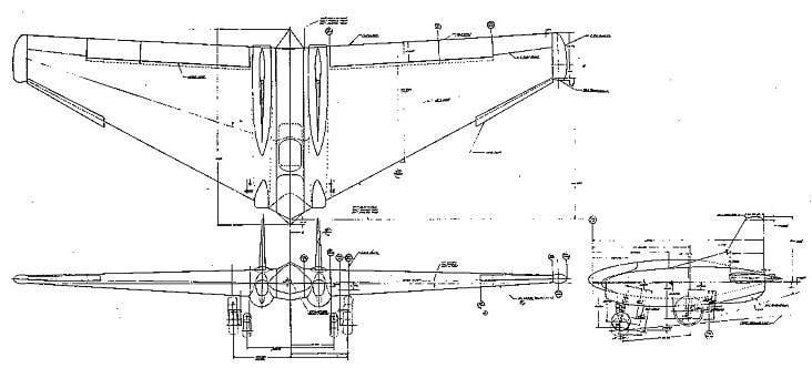 Экспериментальный истребитель Northrop XP-79B Flying Ram (США)
