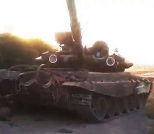 Algunos detalles de la destrucción de T-90A capturada por terroristas en Siria