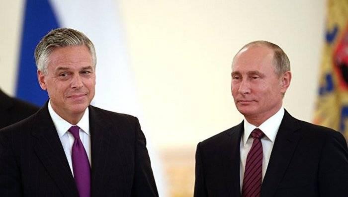 Путин принял верительные грамоты нового американского посла