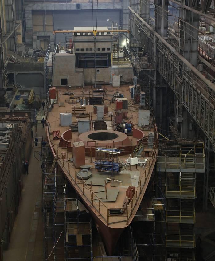 """Estaleiro do norte: o casco da corveta """"Retive"""" é formado"""