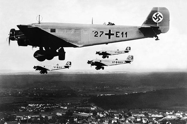 Armée rouge de l'armée de l'air contre la Luftwaffe. Avion de transport