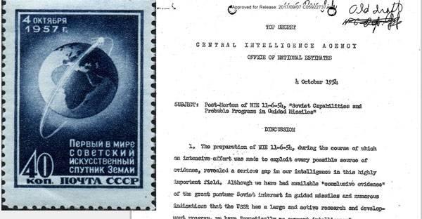 CIAは地球の最初の人工衛星に関する文書の機密扱いを解除しました