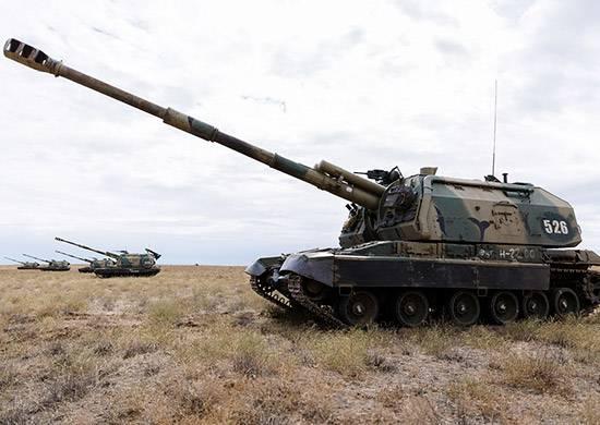 Se levanta una formación de artillería en el Distrito Militar del Sur.