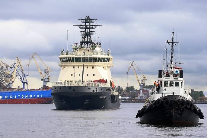 砕氷船「Ilya Muromets」がテストのために海に行きました