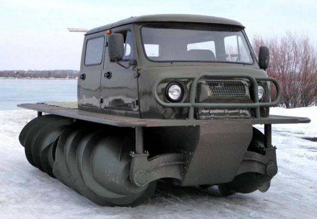 В России запущено производство винтовых вездеходов