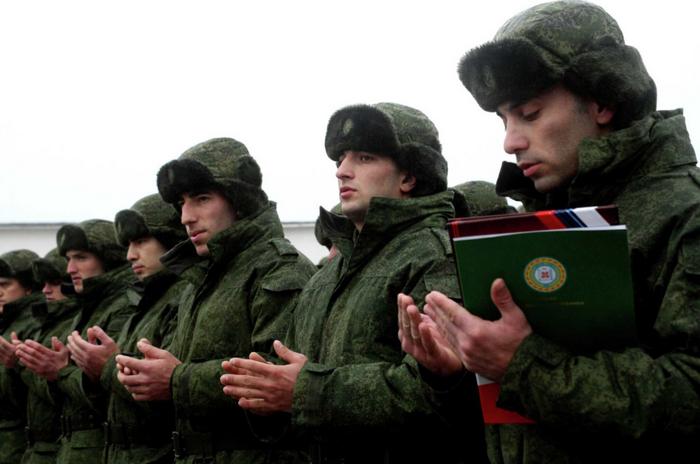 O instituto de garantes para conscritos foi introduzido no norte do Cáucaso