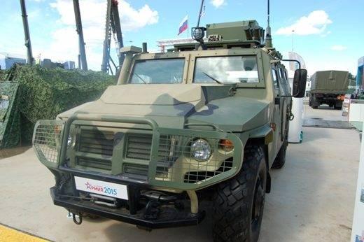 RCBZ Rosgvardiya beherrschte das neue Aufklärungsfahrzeug Razruha-1