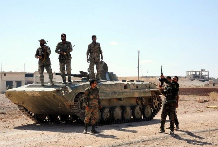 The Syrian army completely cleared from the IG * the border of the province of Damascus and Jordan