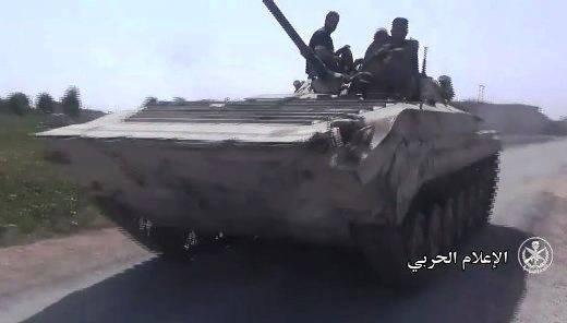 Deir ez-Zor'da bulunan zırhlı keşif aracı