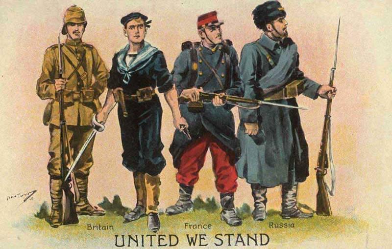 100年の兵士の栄光。 第一次世界大戦の序文