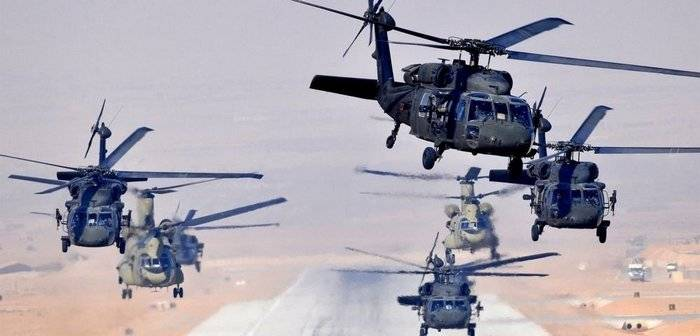 Pentagon launches 76 helicopters to Latvia