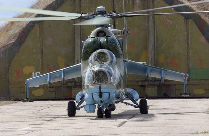 Russian Helicopters repaired Mi-24P for Myanmar Air Force