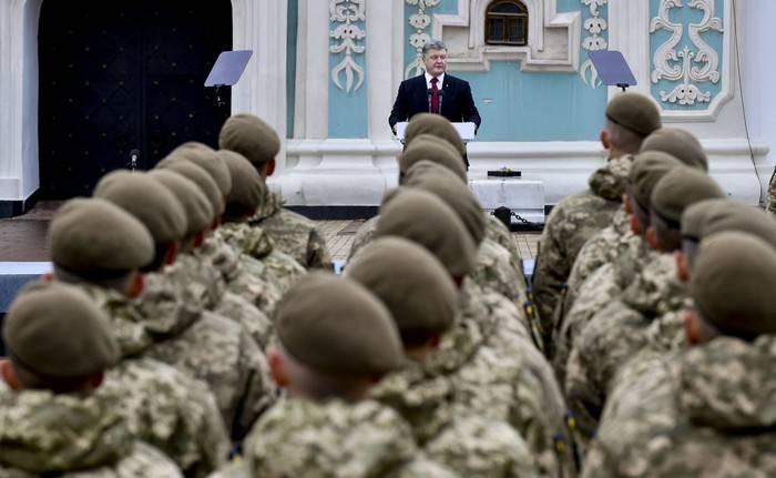 Poroshenko le dio a APU más de sesenta tanques.