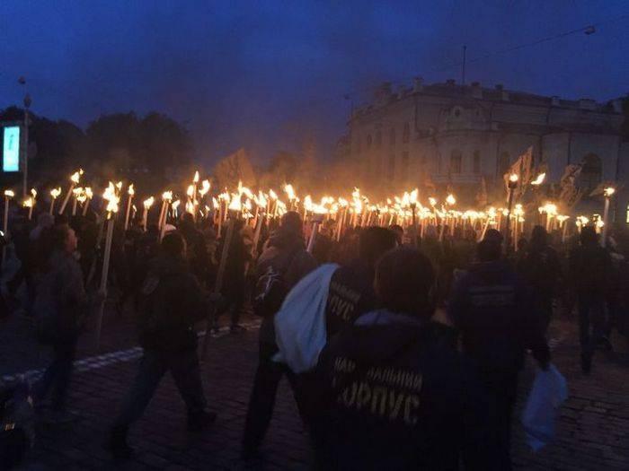 Nacionalistas marcham em Kiev