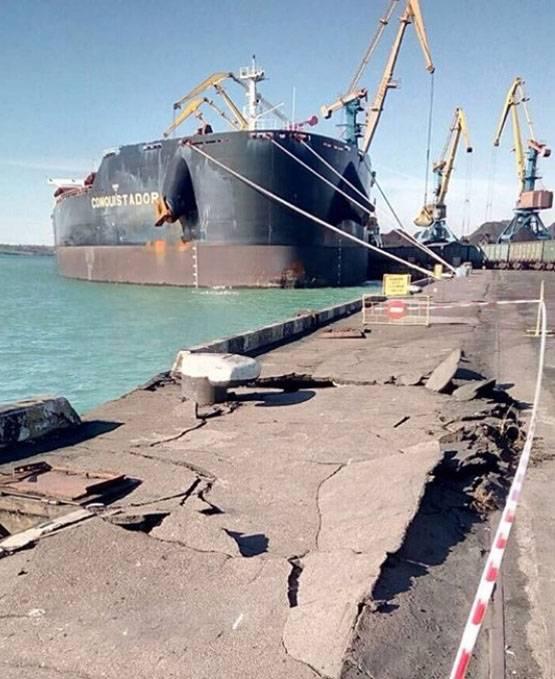 "Kömür ""Conquistador"" Odessa limanını rammed"