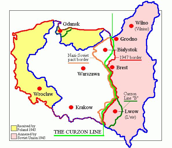 不是一寸乌克兰的土地。 斯大林如何界定波兰的边界