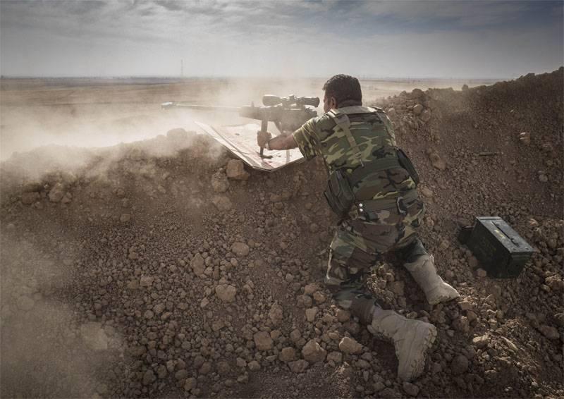 Peshmerga baut Verteidigungslinien in der Nähe von Erbil