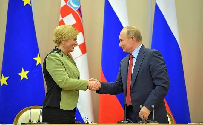 """Der kroatische Präsident brachte """"die Initiative der drei Meere"""" nach Moskau"""