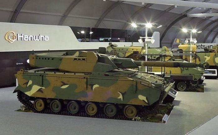 South Korea introduced the medium tank based on the BMP